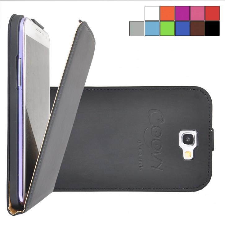 COOVY® Cover für Samsung Galaxy Note 2 GT-N7100 GT-N7105 Slim Flip Case Hülle Tasche Etui inklusive gratis Displayschutzfolie |