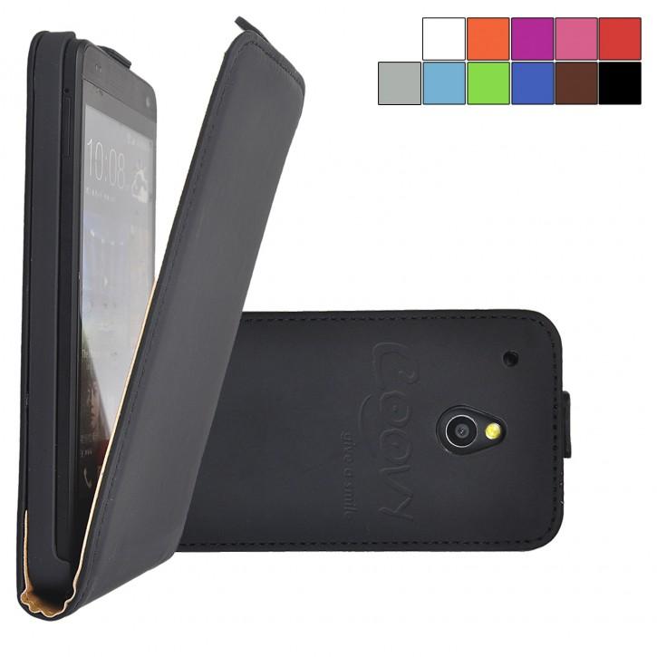 COOVY® Cover für HTC ONE mini M4 Slim Flip Case Hülle Tasche Etui inklusive gratis Displayschutzfolie |