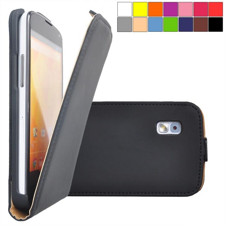 COOVY® Cover für LG LG Google Nexus 4 E960 Slim Flip Case Tasche Etui inklusive gratis Displayschutzfolie