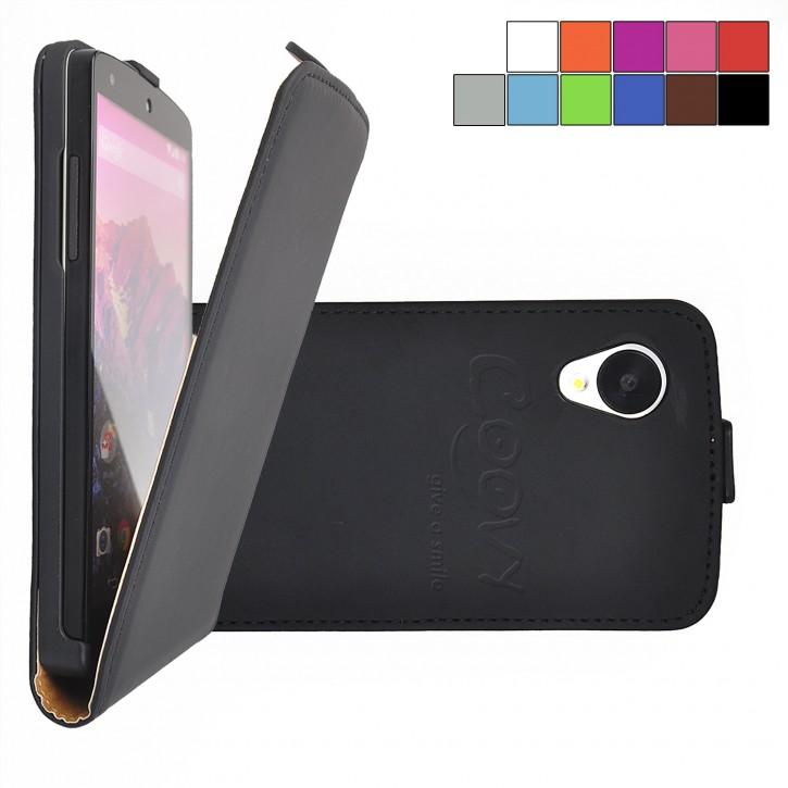 COOVY® Cover für LG LG Google Nexus 5 E980 D821 Slim Flip Case Tasche Etui inklusive gratis Displayschutzfolie