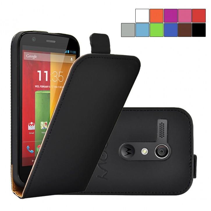 COOVY® Cover für Motorola Moto G XT1032 XT1033 (1. Generation Model 2013) Slim Flip Case Hülle Tasche Etui inklusive gratis Displayschutzfolie |