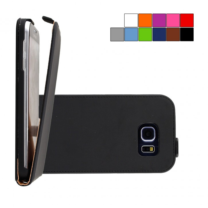COOVY® Cover für Samsung Galaxy S6 SM-G920F SM-G920 Slim Flip Case Hülle Tasche Etui inklusive gratis Displayschutzfolie |