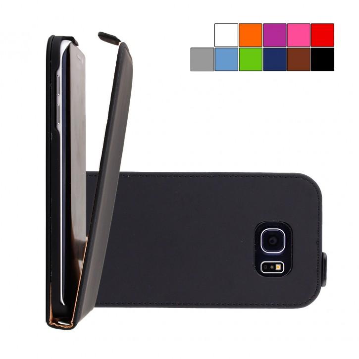 COOVY® Cover für Samsung Galaxy S6 EDGE SM-G925F SM-G925 Slim Flip Case Tasche Etui inklusive gratis Displayschutzfolie