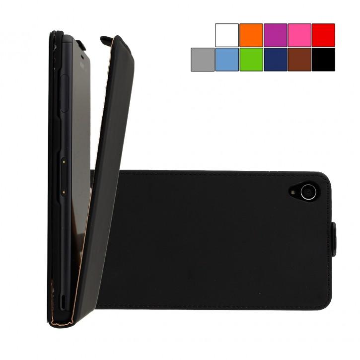 COOVY® Cover für Sony Xperia Z3 Slim Flip Case Tasche Etui inklusive gratis Displayschutzfolie