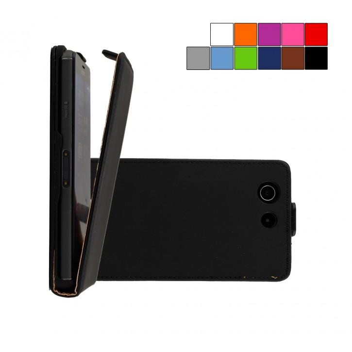 COOVY® Cover für Sony Xperia Z3 Compact D5803 D5833 Slim Flip Case Tasche Etui inklusive gratis Displayschutzfolie