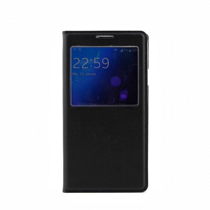 COOVY® Cover für Samsung Galaxy Note 3 Neo SM-N750 SM-N7505 Ultra dünnes Fenster View Case Schutz Hülle Sichtfenster + Displayschutzfolie |