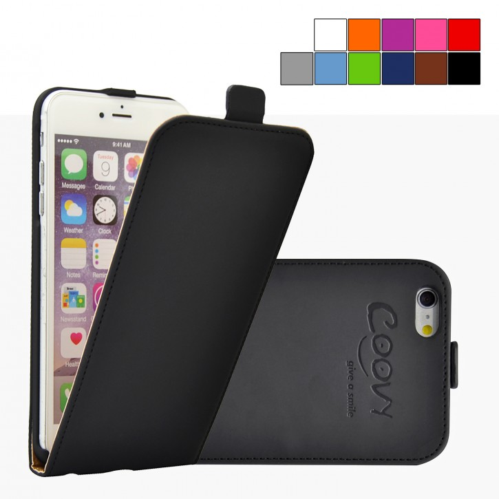 COOVY® Cover für Apple iPhone 6 + plus Slim Flip Case Tasche Etui inklusive gratis Displayschutzfolie