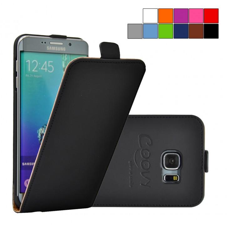 COOVY® Cover für Samsung Galaxy S6 EDGE + plus SM-G928F Slim Flip Case Tasche Etui inklusive gratis Displayschutzfolie