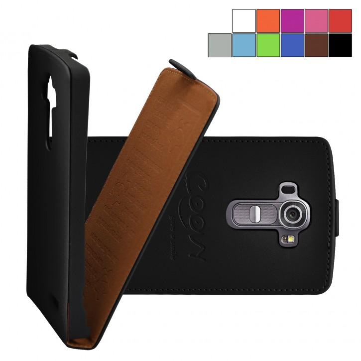 COOVY® Cover für LG G4 H815 (5,5 ZOLL) Slim Flip Case Hülle Tasche Etui inklusive gratis Displayschutzfolie |