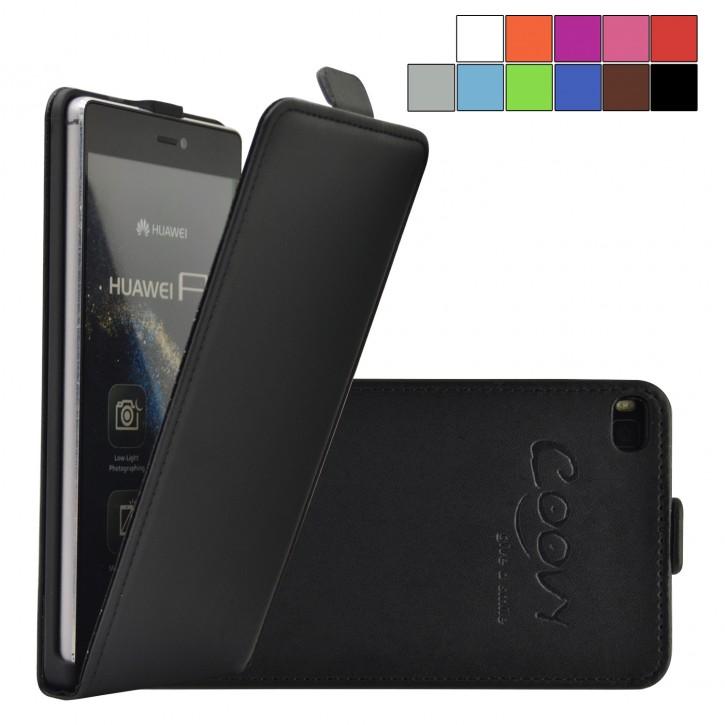 COOVY® Cover für Huawei P8 Slim Flip Case Tasche Etui inklusive gratis Displayschutzfolie
