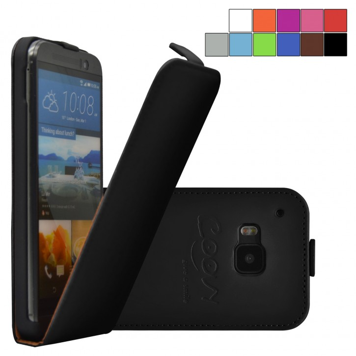 COOVY® Cover für HTC ONE M9 Slim Flip Case Tasche Etui inklusive gratis Displayschutzfolie