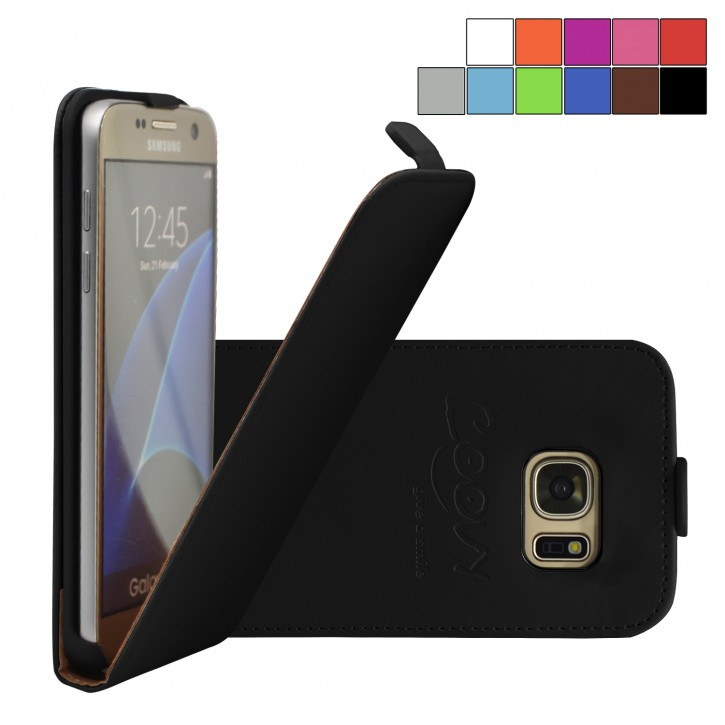COOVY® Cover für Samsung Galaxy S7 SM-G930F SM-G930 Slim Flip Case Tasche Etui inklusive gratis Displayschutzfolie