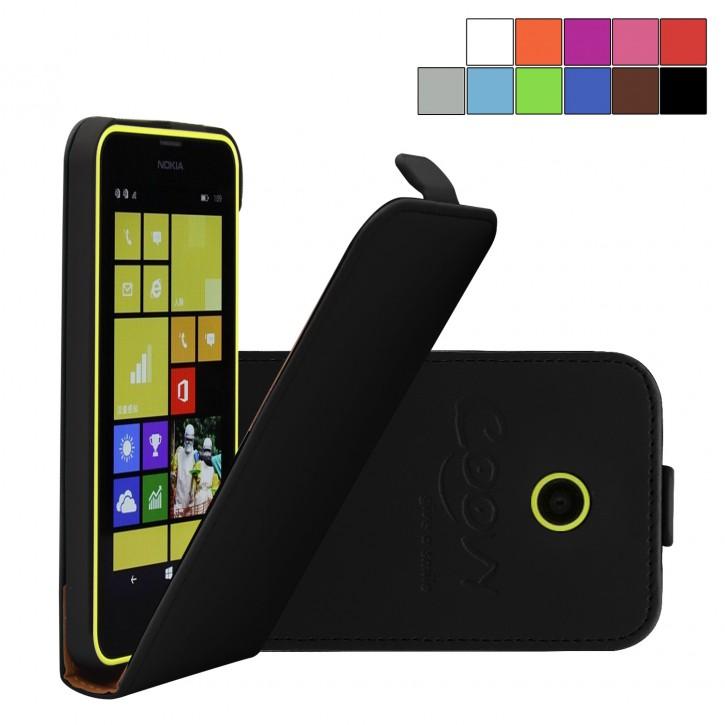 COOVY® Cover für Nokia Lumia 630 / 635 Slim Flip Case Tasche Etui inklusive gratis Displayschutzfolie