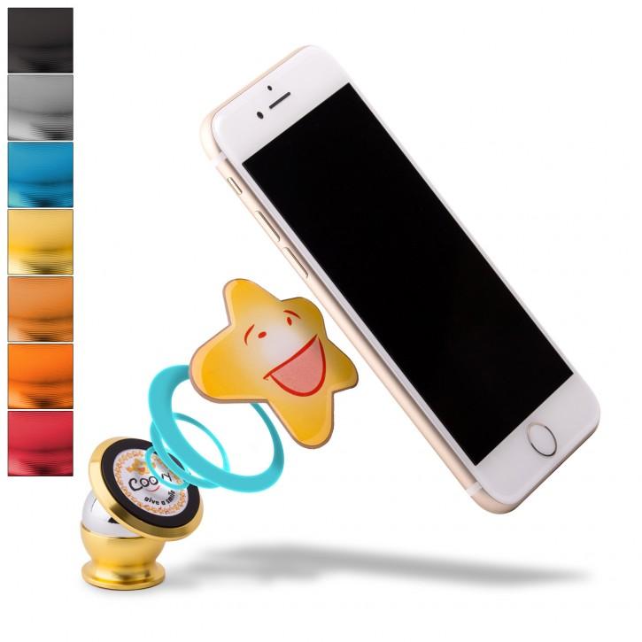 COOVY® Handyhalterung Magnet Universal Auto Halterung KFZ Halter für iPhone 11 pro max X XS XR 8 7 6s 6 Samsung Galaxy Note S10 S9 S8 S8 S6 Huawei, jedes Smartphone, GPS  gold