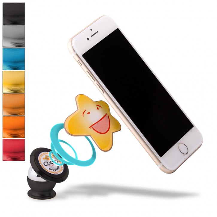 """COOVY® Premium Magnet Holder im """"Leucht Stern Design"""", Universal Halterung für alle Navis, Handys und Tablets, für KFZ, Haushalt, Office, Werkstatt"""