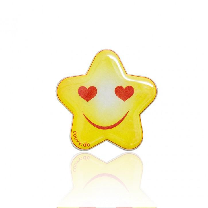 COOVY® Leucht-Stern Lovy Metall Aufkleber für Premium Universal Magnet Holder, auch zum überall aufkleben, mit Glow in the Dark Effekt, leuchtet im Dunkeln, zaubert ein Lächeln ins Gesicht