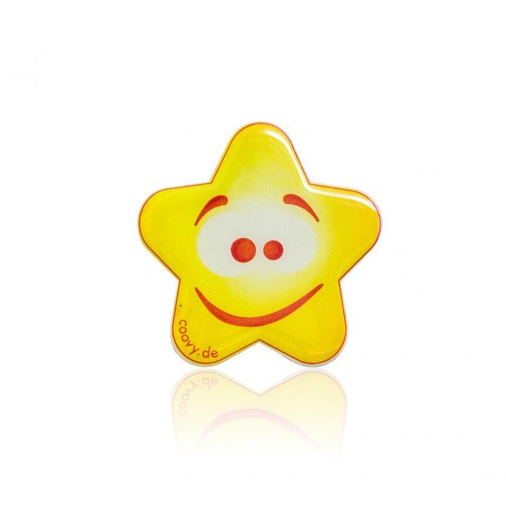 COOVY® Leucht-Stern Stupy Metall Aufkleber für Premium Universal Magnet Holder, auch zum überall aufkleben, mit GLOW IN THE DARK Effekt, leuchtet im Dunkeln, zaubert ein Lächeln ins Gesicht