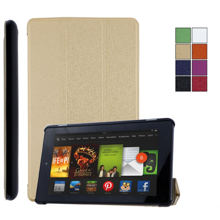 COOVY® Ultra Slim Cover für Amazon Kindle Fire HD 7 (5. Generation, Model 2015) Smart Schutzhülle Case Hülle mit Standfunktion und Auto Sleep/Wake up |