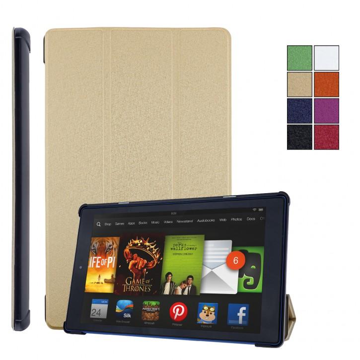 COOVY® Ultra Slim Cover für Amazon Kindle Fire HD 10 (7. / 9. Generation, Model 2017/2019) Smart Schutzhülle Case Hülle mit Standfunktion und Auto Sleep/Wake up |