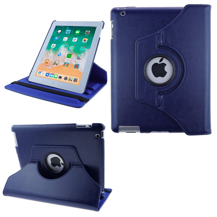 COOVY® Cover für Apple iPad 2 / 3 / 4 Rotation 360° Smart Hülle Tasche Etui Case Schutz Ständer Auto Sleep/Wake up