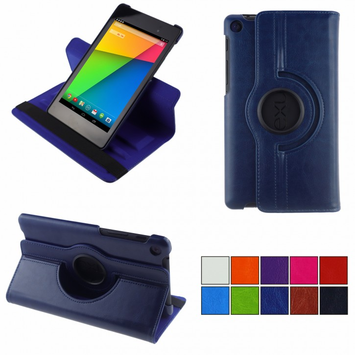 COOVY® Cover für Google ASUS Google Nexus 7 (2. Generation Model 2013) Rotation 360° Smart Hülle Tasche Etui Case Schutz Ständer