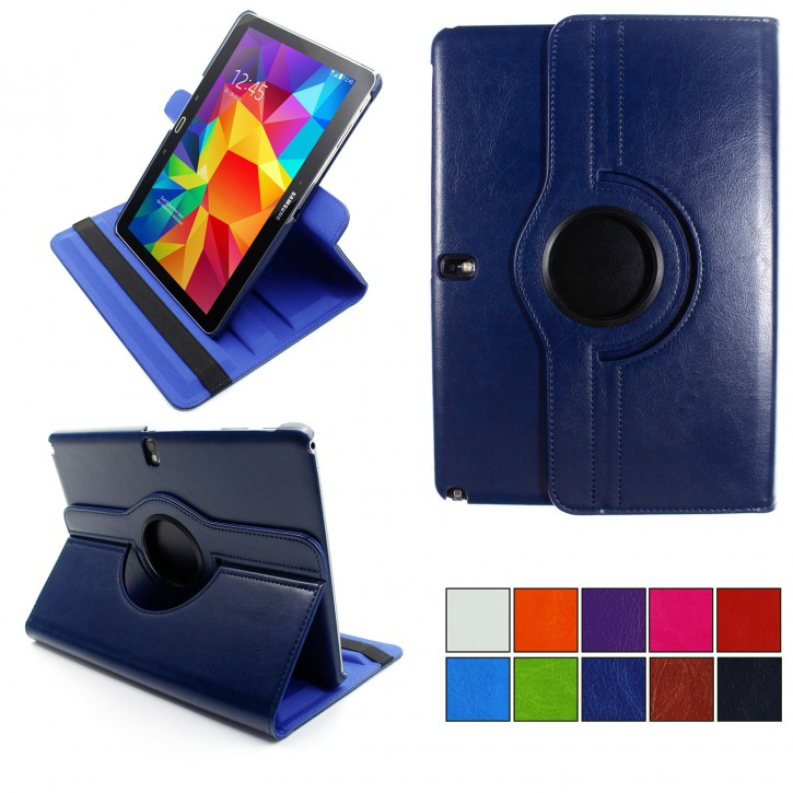 COOVY® 2.0 Cover für Samsung Galaxy Note 10.1 (Model 2014) SM-P6000 P6010 P6050 SM-P600 P601 P605 Rotation 360° Smart Hülle Tasche Etui Case Schutz Ständer Auto Sleep/Wake up