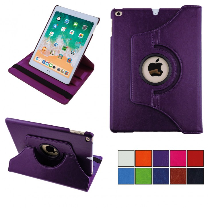 COOVY® Cover für Apple iPad Air II / iPad 6 (Model 2014) Rotation 360° Smart Hülle Tasche Etui Case Schutz Ständer Auto Sleep/Wake up | Farbe lila
