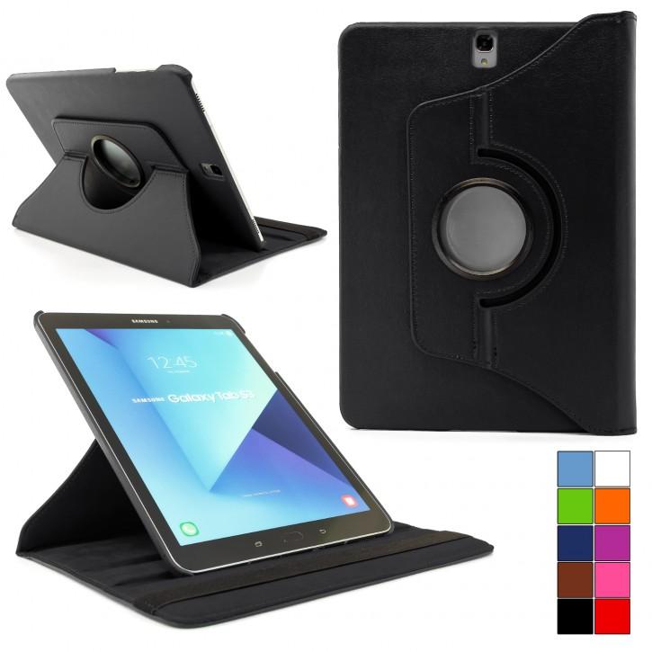 COOVY® 2.0 Cover für Samsung TAB S3 9.7 SM-T820 SM-T825 Rotation 360° Smart Hülle Tasche Etui Case Schutz Ständer Auto Sleep/Wake up  