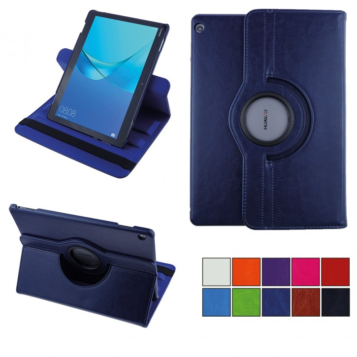 COOVY® Cover für Huawei MediaPad M3 Lite 10 Rotation 360° Smart Hülle Tasche Etui Case Schutz Ständer