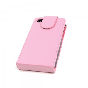 Flip Cover für APPLE iPhone 4/4s TASCHE ETUI HANDY HÜLLE CASE Farbe Light Pink