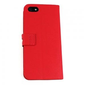 BOCKSTYLE TASCHE für APPLE iPhone 5/5s TASCHE CASE HÜLLE COVER EC FACH Farbe Rot