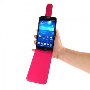 Flip Cover für Samsung Galaxy S4 GT-i9500 GT-i9505 GT-i9506 TASCHE ETUI HANDY HÜLLE CASE Farbe Hotpink