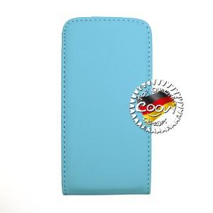 COOVY® Cover für Apple iPhone 4 / 4s Slim Flip Case Tasche Etui inklusive gratis Displayschutzfolie | Farbe hellblau