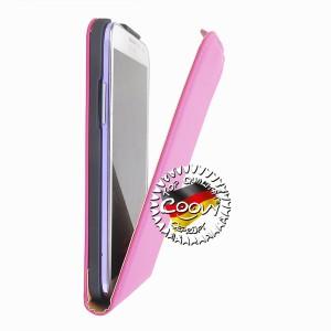 COOVY® Cover für Samsung Galaxy Note 2 GT-N7100 GT-N7105 Slim Flip Case Tasche Etui inklusive gratis Displayschutzfolie | Farbe hotpink