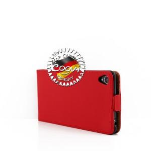 COOVY® Cover für Sony Xperia Z3 Slim Flip Case Tasche Etui inklusive gratis Displayschutzfolie | Farbe rot