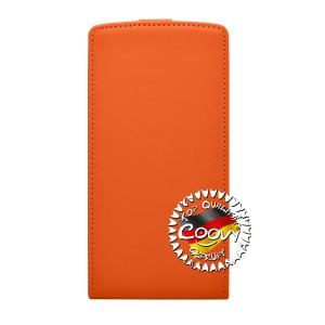 COOVY® Cover für LG G4 H815 (5,5 ZOLL) Slim Flip Case Tasche Etui inklusive gratis Displayschutzfolie   Farbe orange