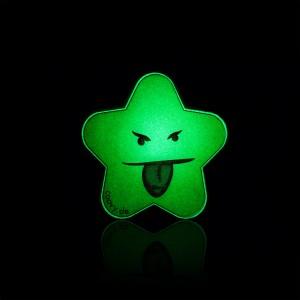 COOVY® Leucht-Stern Cheeky Metall Aufkleber für Premium Universal Magnet Holder, auch zum überall aufkleben, mit Glow in the Dark Effekt, leuchtet im Dunkeln, zaubert ein Lächeln ins Gesicht