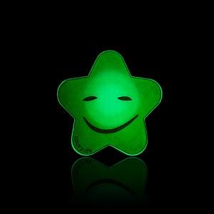 """COOVY® LEUCHT-STERN """"HAPPY"""" Metall Aufkleber für Premium Universal Magnet Holder, auch zum überall aufkleben, mit """"GLOW IN THE DARK"""" Effekt, leuchtet im Dunkeln, zaubert ein Lächeln ins Gesicht"""