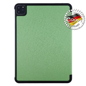 COOVY® Ultra Slim Cover für Apple iPad pro 11 (Model 2018 / 2020) Smart Schutzhülle Case Hülle mit Standfunktion und Auto Sleep/Wake up | grün