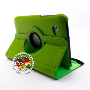 COOVY® 2.0 Cover für Samsung Galaxy TAB 2 7.0 GT-P3100 GT-P3110 Rotation 360° Smart Hülle Tasche Etui Case Schutz Ständer | Farbe grün