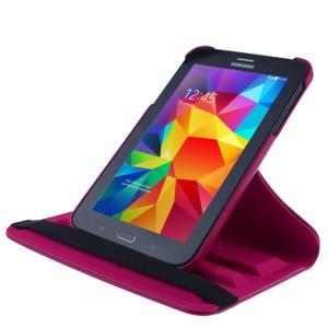 COOVY® Cover für Samsung Galaxy TAB 3 LITE 7.0 SM-T110 SM-T111 Rotation 360° Smart Hülle Tasche Etui Case Schutz Ständer | Farbe hotpink