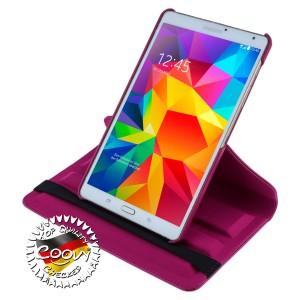COOVY® Cover für Samsung Galaxy TAB S 8.4 SM-T700 SM-T701 SM-T705 Rotation 360° Smart Hülle Tasche Etui Case Schutz Ständer | Farbe hotpink
