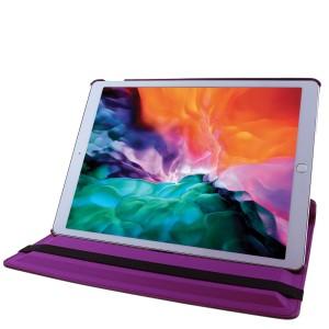 COOVY® Cover für Apple iPad pro 12.9 (Model 2015) Rotation 360° Smart Hülle Tasche Etui Case Schutz Ständer Auto Sleep/Wake up | Farbe lila