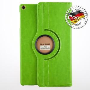 COOVY® 2.0 Cover für Samsung Galaxy TAB A 10.1 (Model 2019) SM-T510 SM-T515 Rotation 360° Smart Hülle Tasche Etui Case Schutz Ständer | grün